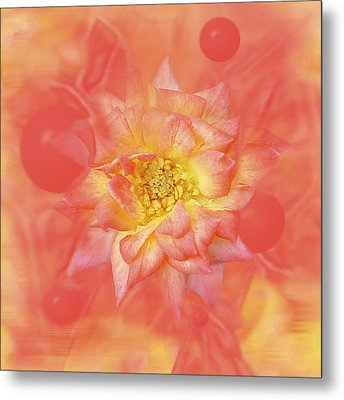 Sunny Flower Universe Metal Print