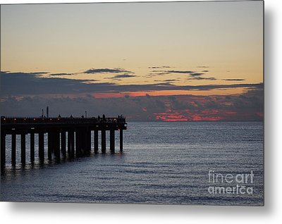 Metal Print featuring the photograph Sunny Isles Fishing Pier Sunrise by Rafael Salazar
