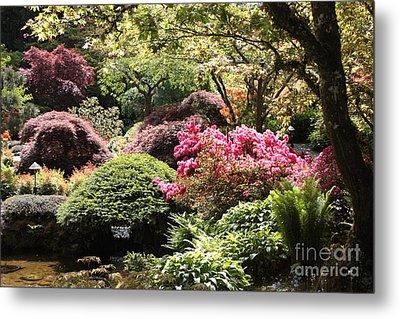 Sunny Japanese Garden Metal Print by Carol Groenen