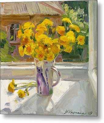 Sunny May Metal Print by Victoria Kharchenko