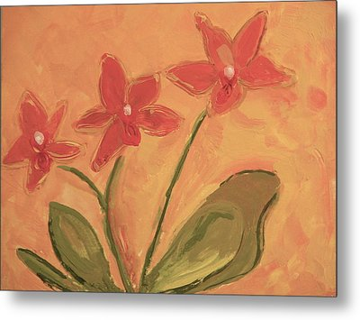 Sunny Orchids Metal Print by Valerie Lynch
