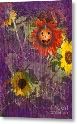 Sunny Pumpkin Metal Print by Audra D Lemke