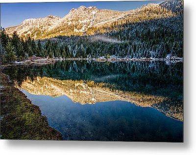 Sunny Tops And Icy Skirts At Gold Creek Pond Metal Print by Brian Xavier