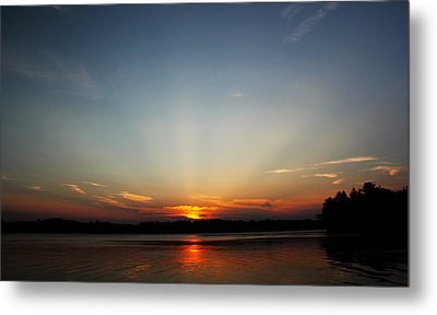 Sunrays At Sunset Metal Print by James Hammen