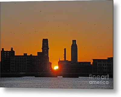 Sunrise And The City Metal Print