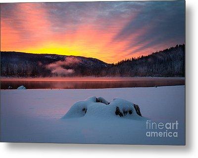 Sunrise At Bass Lake Metal Print