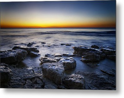 Sunrise At Cave Point Metal Print by Scott Norris