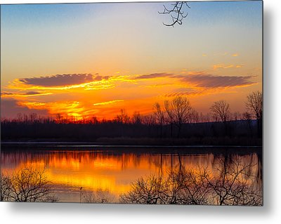 Sunrise At Clear Creek Metal Print