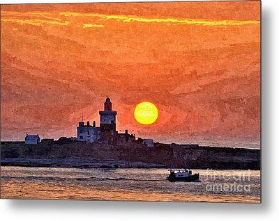 Sunrise At Coquet Island Northumberland - Photo Art Metal Print