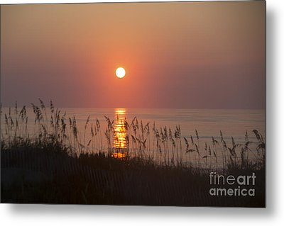 Sunrise At Corolla Outer Banks North Carolina Metal Print by Diane Diederich
