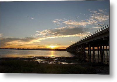 Sunrise At Corpus Christi Metal Print