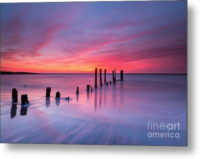 Sunrise At Deal Nj Metal Print by Michael Ver Sprill