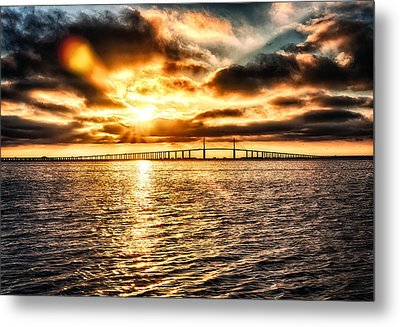 Sunrise At Ft. Desoto In Hdr Metal Print by Michael White