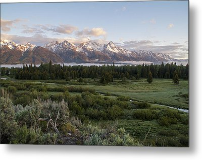 Sunrise At Grand Teton Metal Print by Brian Harig
