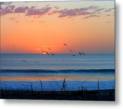 Metal Print featuring the photograph Sunrise At Indialantic by Kay Gilley