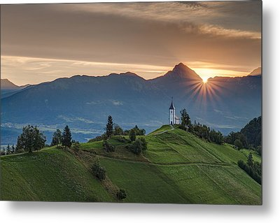 Sunrise At Jamnik Metal Print by Robert Krajnc