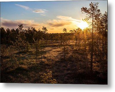 Sunrise At Linnaistensuo Metal Print by Janne Mankinen