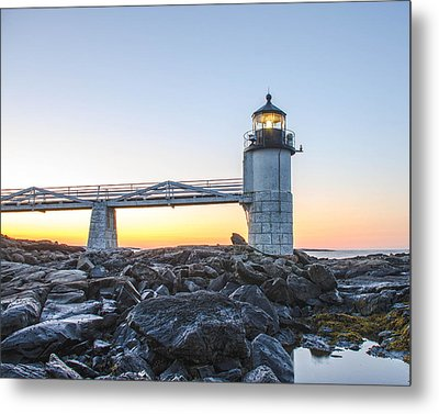 Sunrise At Marshall Point Lighthouse Metal Print