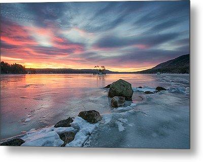 Sunrise At Moose Pond  Metal Print by Darylann Leonard Photography