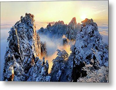 Sunrise At Mt. Huang Shan Metal Print