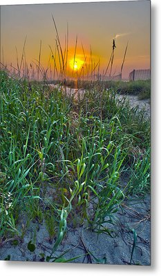 Metal Print featuring the photograph Sunrise At Myrtle Beach by Alex Grichenko