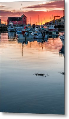Sunrise At Rockport Harbor - Cape Ann Metal Print