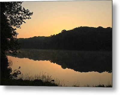 Sunrise At Rose Lake Metal Print by Julie Andel