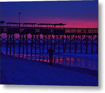Sunrise At Surfside Pier Metal Print by Stacy Sikes