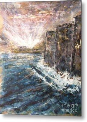 Sunrise At Tal-gurdan Cliffs Metal Print by Marco Macelli