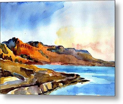 Sunrise At The Dead Sea  Metal Print by Anna Lobovikov-Katz