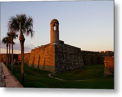 Sunrise At The Fort Metal Print by Kathy Ponce