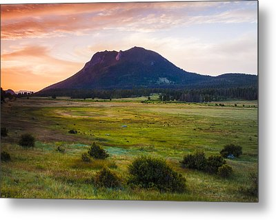 Sunrise At The Horseshoe Park Of The Colorado Rockies Metal Print by Ellie Teramoto