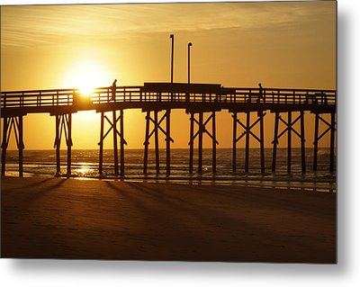 Sunrise At The Jolly Roger Pier 2 Metal Print by Mike McGlothlen