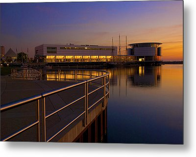 Metal Print featuring the photograph Sunrise At The Lakefront by Jonah  Anderson
