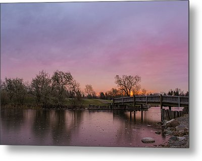 Sunrise At The Park Metal Print by Dwayne Schnell