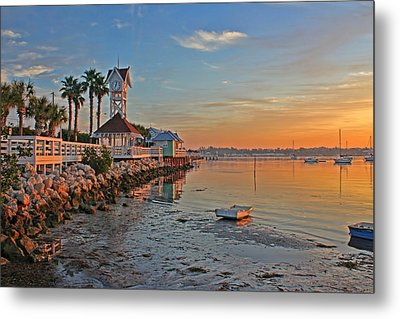 Sunrise At The Pier Metal Print by HH Photography of Florida
