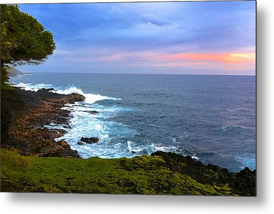 Sunrise At The Point Hawaii Metal Print by Venetia Featherstone-Witty