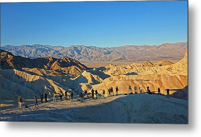 Metal Print featuring the photograph Sunrise At Zabriskie Point - Death Valley by Dana Sohr