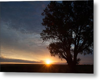 Sunrise Awaited Metal Print by Shirley Heier