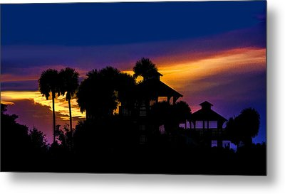 Sunrise Barefoot Mailman Park Metal Print by Don Durfee