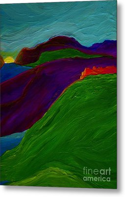Metal Print featuring the painting Sunrise Castle By Jrr by First Star Art
