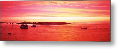 Sunrise Chatham Harbor Cape Cod Ma Usa Metal Print by Panoramic Images