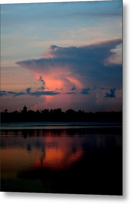 Sunrise Cloud Reflection Metal Print by Diane Merkle