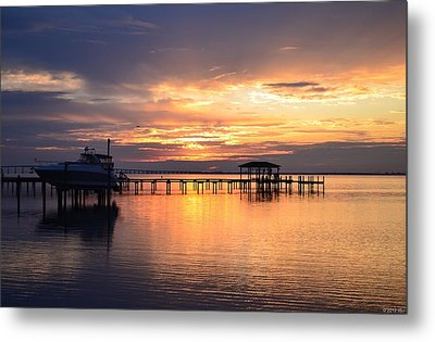 Metal Print featuring the photograph Sunrise Colors On The Sound by Jeff at JSJ Photography