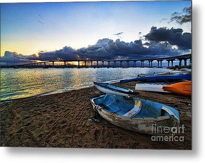 Sunrise - Coronado Bridge Metal Print