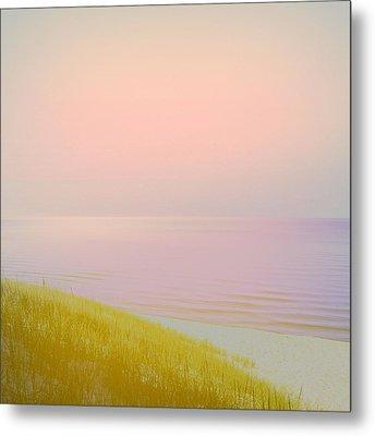 Sunrise Dune Metal Print by Michelle Calkins