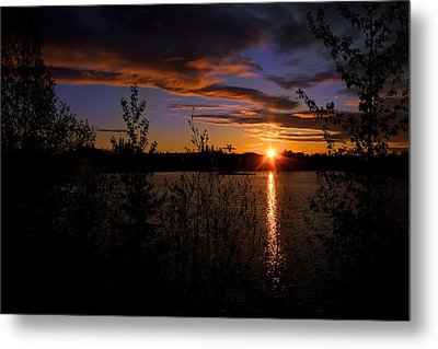 Metal Print featuring the photograph Sunrise Fairbanks Alaska by Michael Rogers