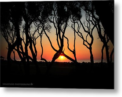 Sunrise Fort Fisher Metal Print by Phil Mancuso