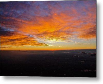Sunrise From The Airplane Metal Print by Jennifer Lamanca Kaufman