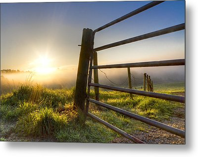 Sunrise  Gate Metal Print by Debra and Dave Vanderlaan